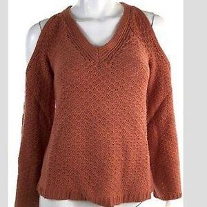 Juniors Bell-Sleeve Cold Shoulder V-Neck sweater
